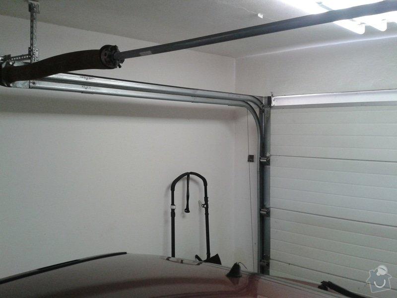 Sekční garážová vrata - dodávka a instalace elektického pohonu na stávající gar. vrata: 20150308_092320