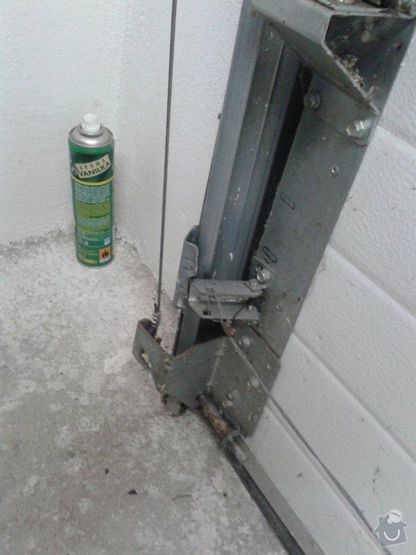 Sekční garážová vrata - dodávka a instalace elektického pohonu na stávající gar. vrata: 20150308_092429