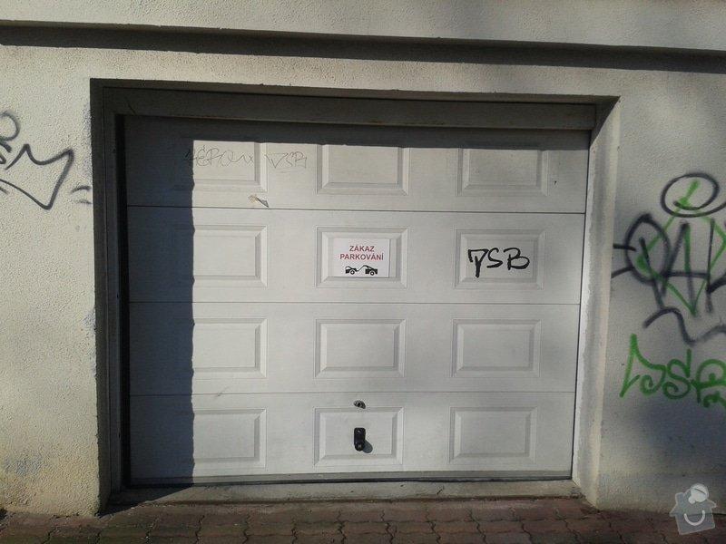 Sekční garážová vrata - dodávka a instalace elektického pohonu na stávající gar. vrata: 20150308_092103