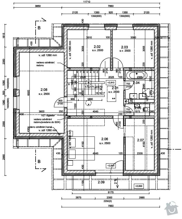 Stavba RD - zdeni: 2np