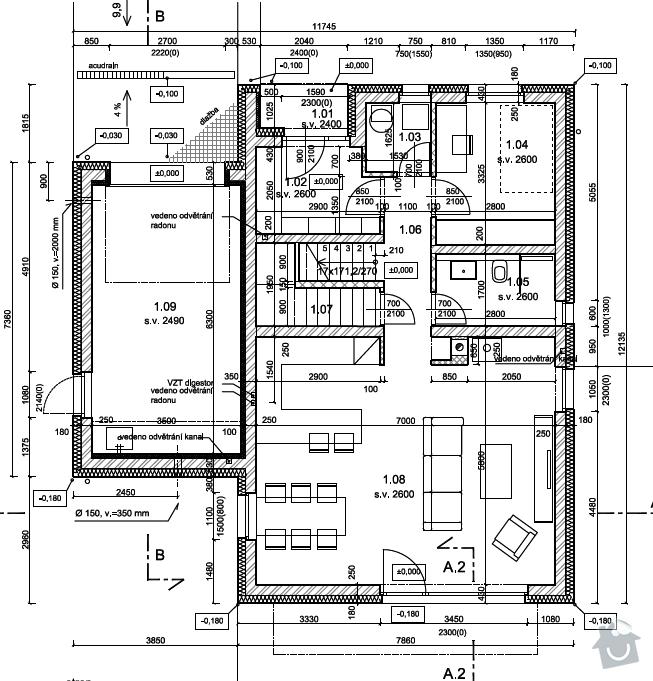Stavba RD - zdeni: 1np