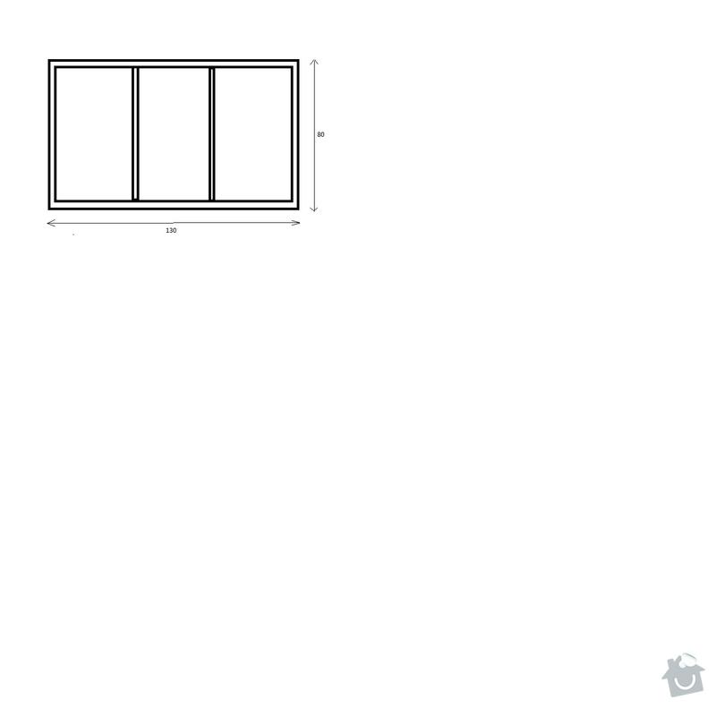 Interierové okno 130 x 80: okno