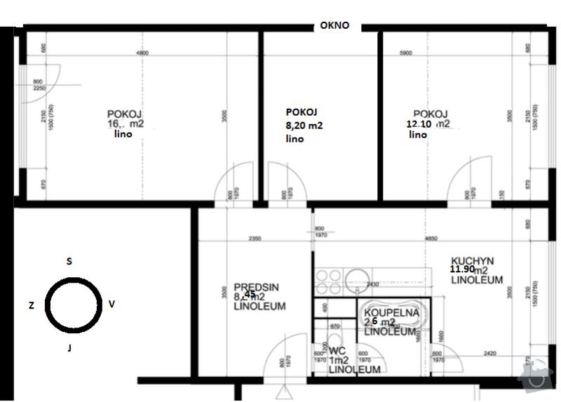 Návrh a výroba kuchyňské linky: byt_panelak