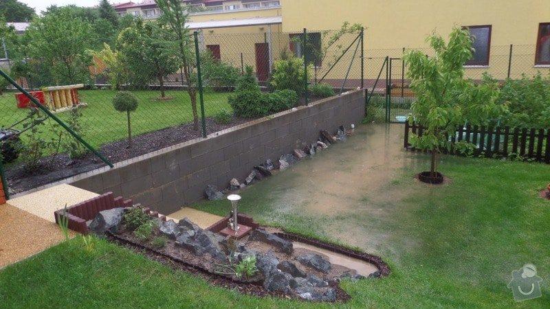 Odvodnění pozemku, zarovnání a úprava terénu: Potopa