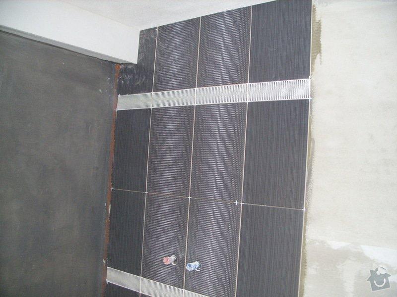 Obklady, dlažba, usazení sprchové vaničky: SS857733