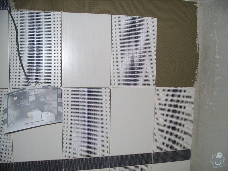 Obklady, dlažba, usazení sprchové vaničky: SS857735