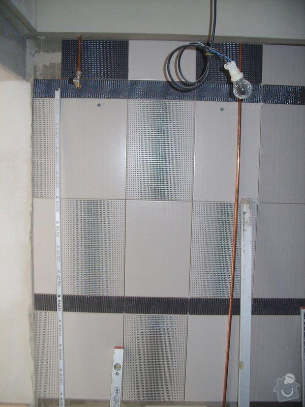 Obklady, dlažba, usazení sprchové vaničky: SS857743