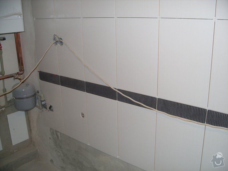 Obklady, dlažba, usazení sprchové vaničky: SS857754