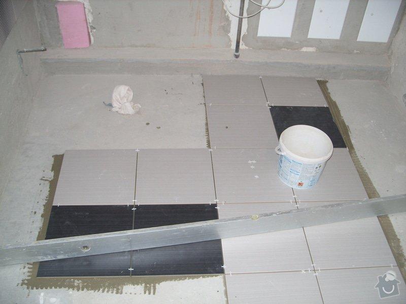 Obklady, dlažba, usazení sprchové vaničky: SS857760