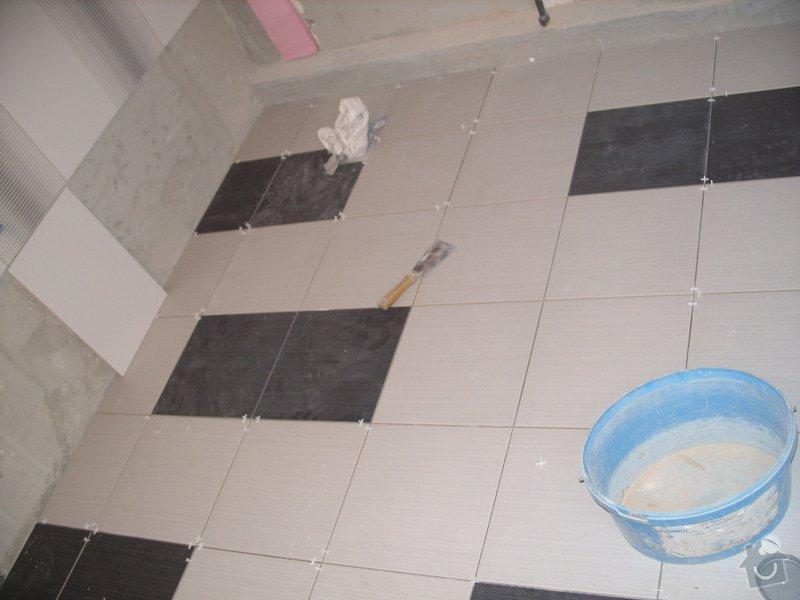 Obklady, dlažba, usazení sprchové vaničky: SS857762