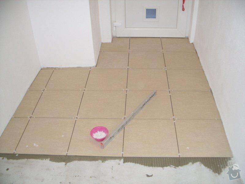 Obklady, dlažba, usazení sprchové vaničky: SS857766