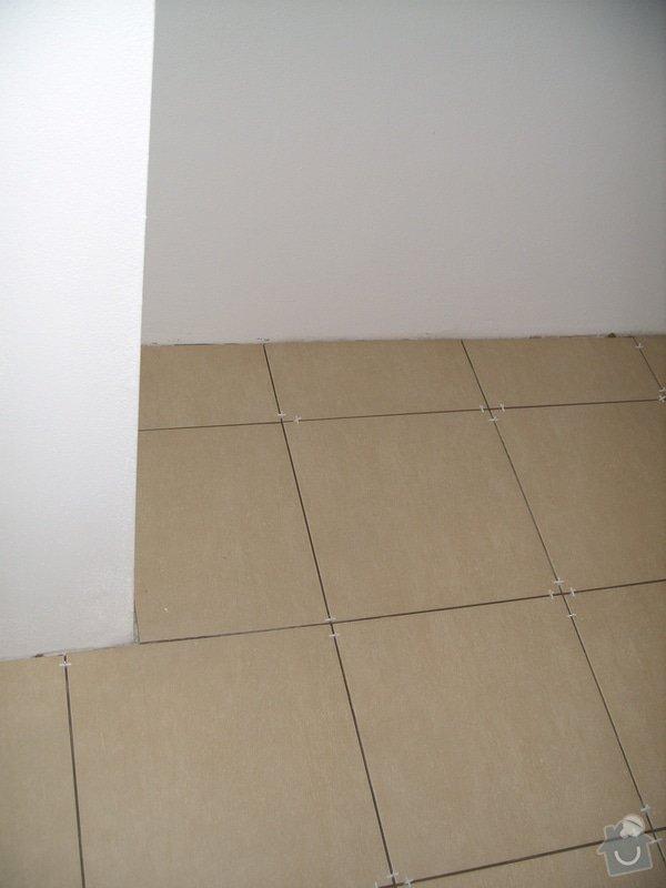 Obklady, dlažba, usazení sprchové vaničky: SS857773