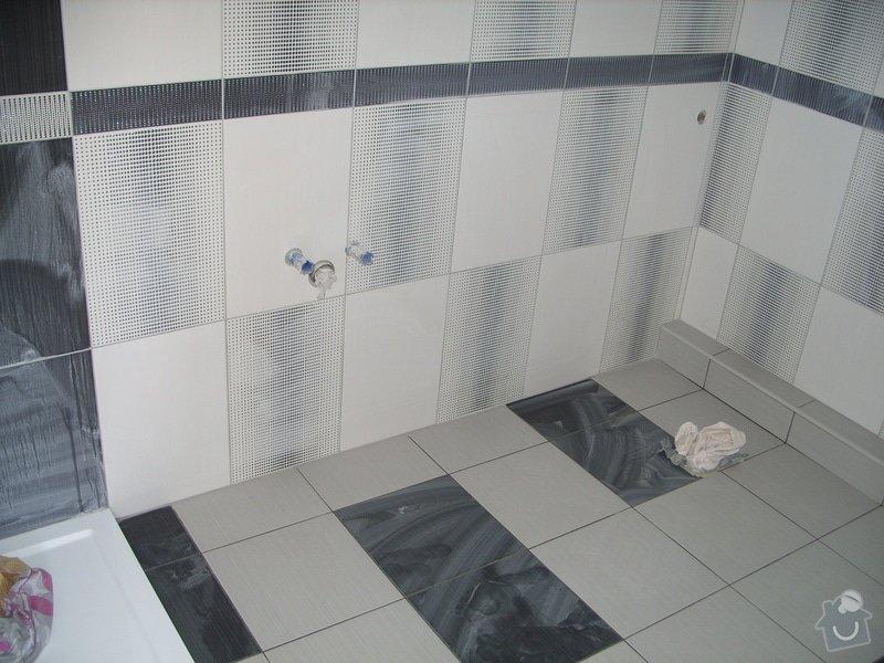 Obklady, dlažba, usazení sprchové vaničky: SS857775