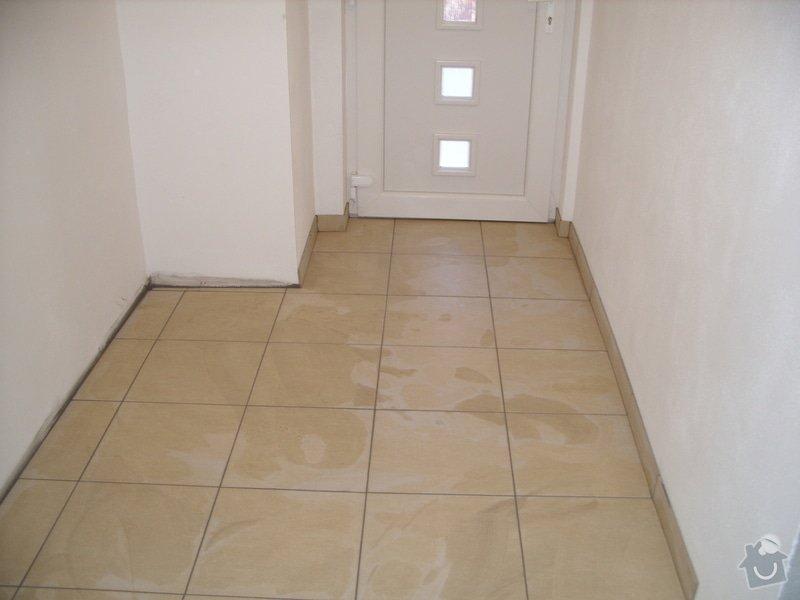 Obklady, dlažba, usazení sprchové vaničky: SS857782