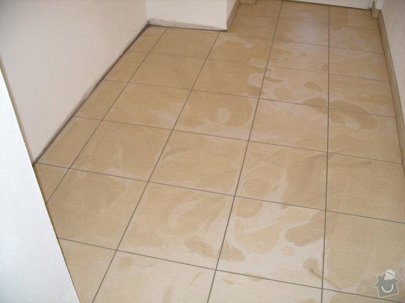 Obklady, dlažba, usazení sprchové vaničky: SS857784