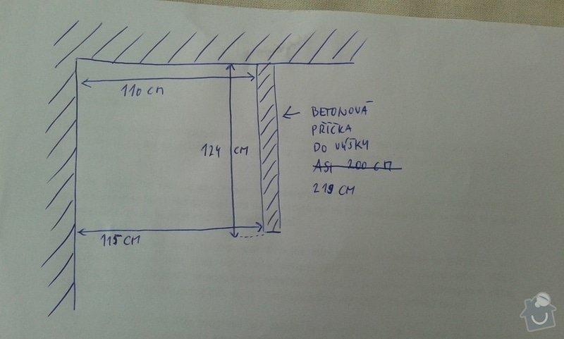 Plechové dveře do sklepní kóje - výroba a montáž: schema1