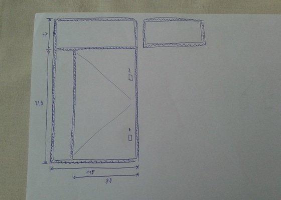 Plechové dveře do sklepní kóje - výroba a montáž