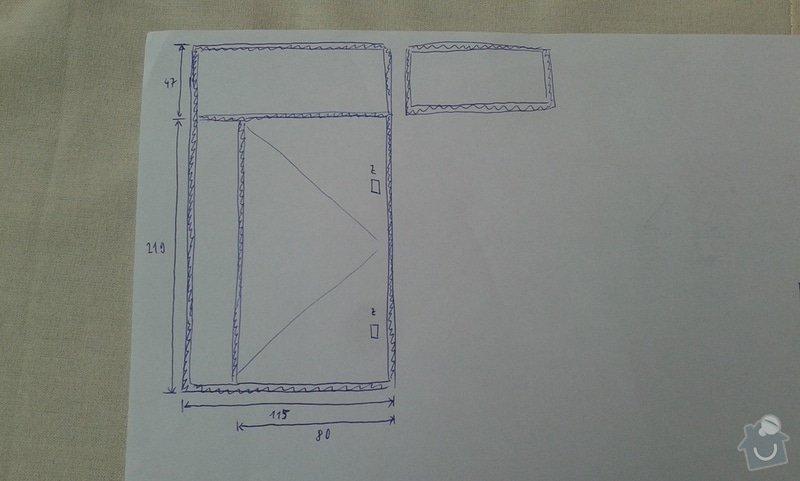 Plechové dveře do sklepní kóje - výroba a montáž: schema2