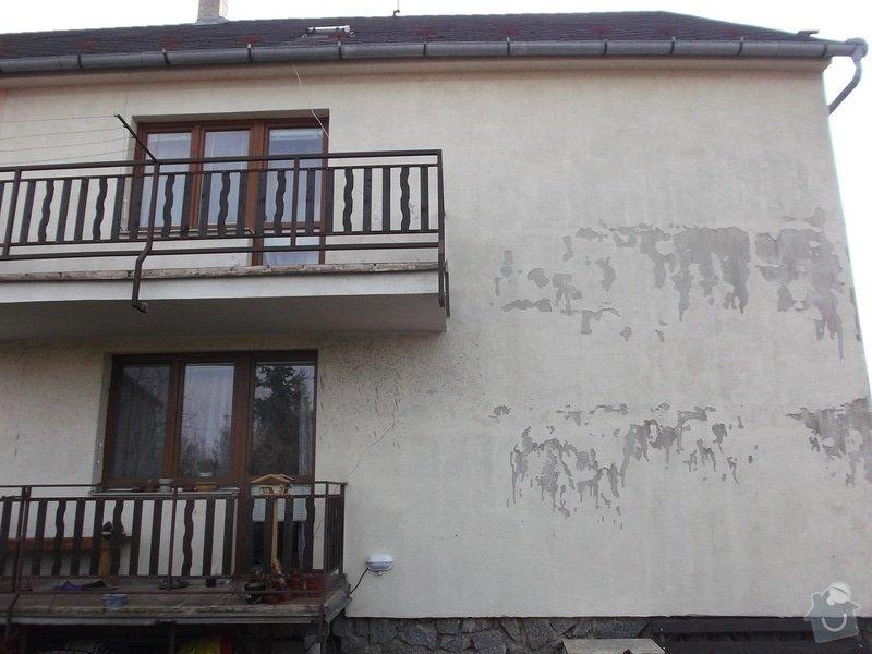 Oprava nátěru oprýskané fasády RD: dum_zadni