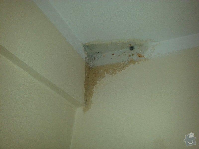 Oprava prostor a hotelových pokojů po havárii vody Mělník: pokoj_103_protekly_strop