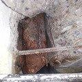 Oprava prostor a hotelovych pokoju po havarii vody melnik protekla stena ve skleoe kde zateklo do rozvadece   detail