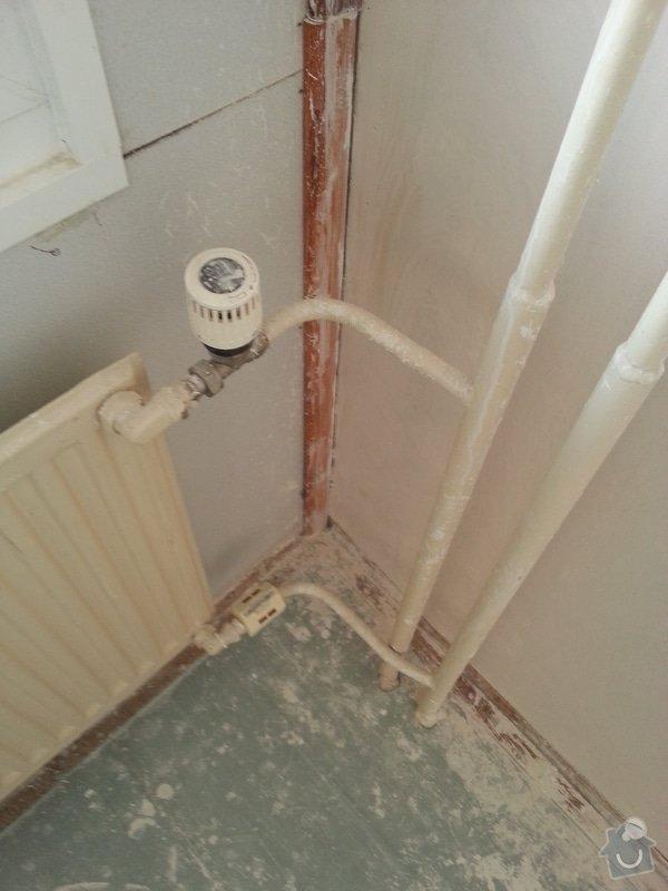 Demontáž 4 radiátorů metodou zmrazení + instalace uzavíracích ventilů: WP_20150316_003