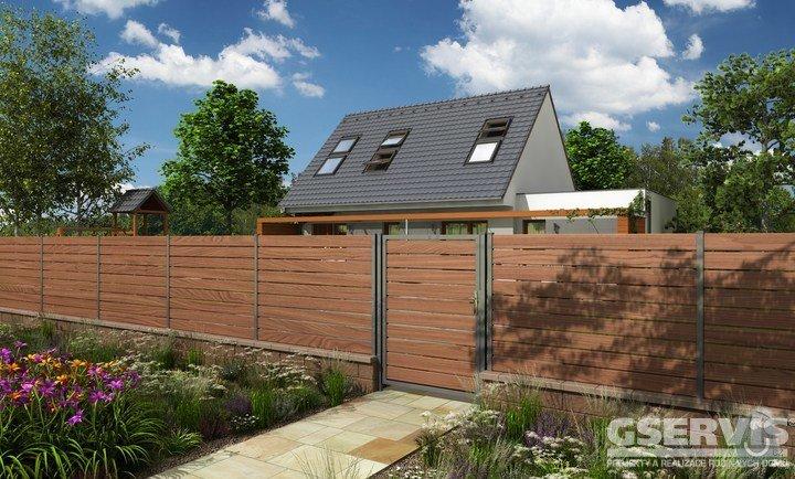 Oplocení, samonosná brána s pohonem, branka + 20m2 zámkové dlažby: rodinny-dum-plot14-foto