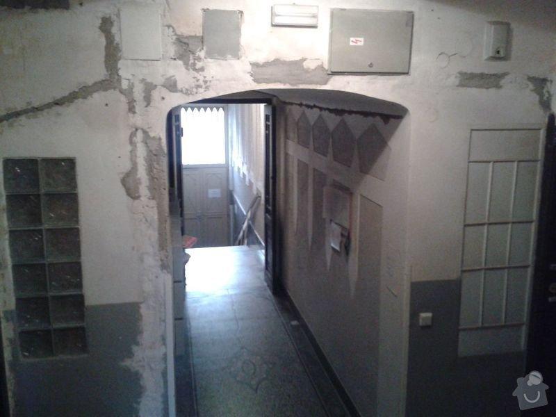 Zednické práce - rekonstrukce chodby v domě: 20150316_175028