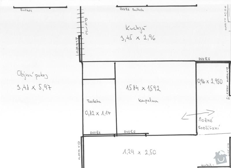Rekonstrukce jádra v panelovém bytě: Dispozice_bytu_001