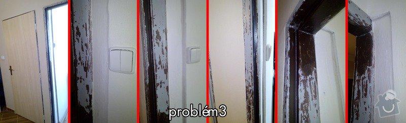3x dveře s obložky, 2x posuvné dveře a obložky s montáží: problem3