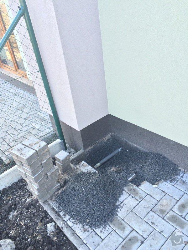 Vývod vody do zahradního kohoutu pro připojení hadice u RD : image