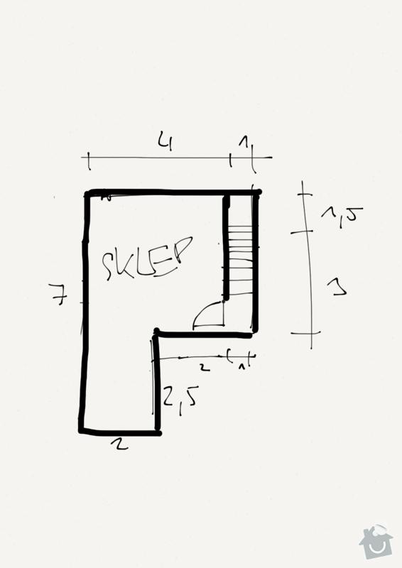 Stavba sklepa pro zahradní chatu: Sklep-pudorys