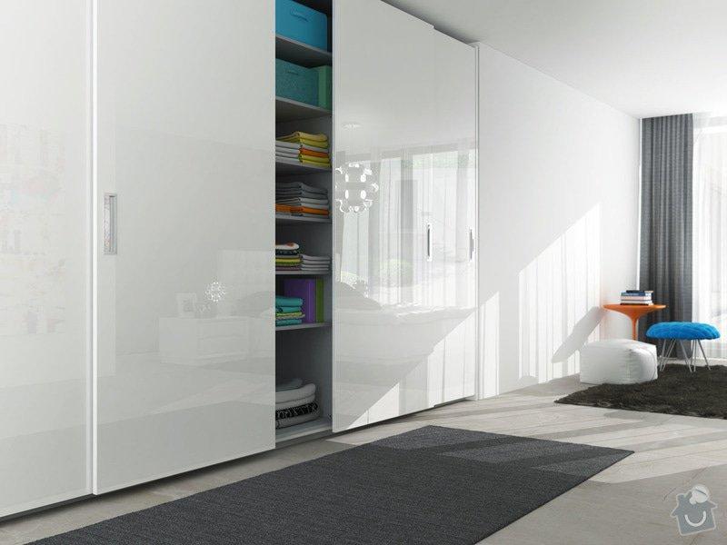 Pojízdné interiérové dveře do šatny: satni-skrin