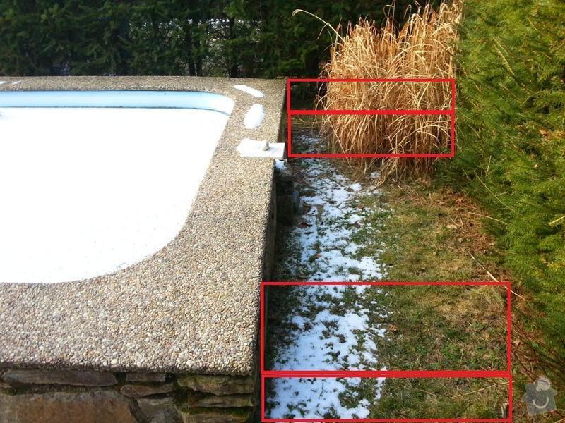 Stavba 2 podloží pro kolejiště k bazénu: bazen-stavba
