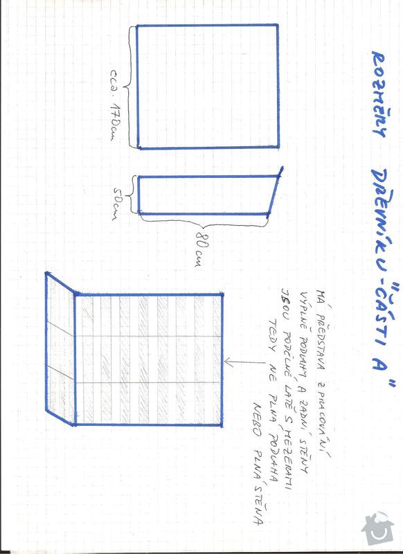 Stavba kůlny s dřevníkem - okres Kladno - prioritou rychlost zhotovení: 5_-_drevnik_A_-_rozmery