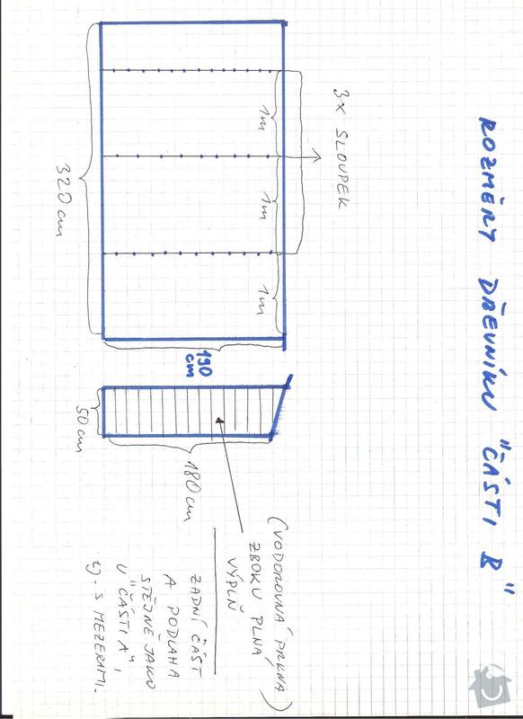 Stavba kůlny s dřevníkem - okres Kladno - prioritou rychlost zhotovení: 6_-_drevnik_B_-_rozmery