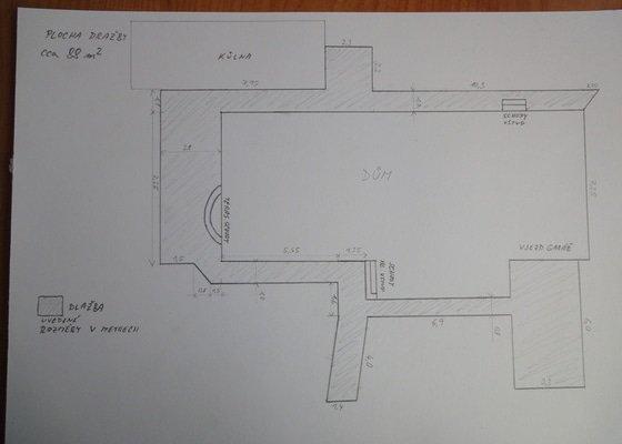 Pokládka zámkové dlažby okolo domu na klíč cca 90 m2 - dlažba vlastní