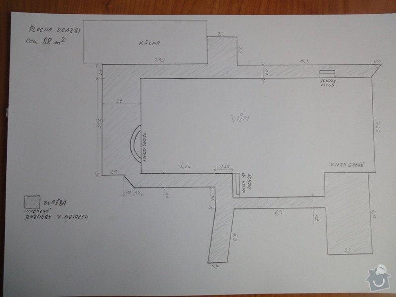Pokládka zámkové dlažby okolo domu na klíč cca 90 m2 - dlažba vlastní: DSC05210