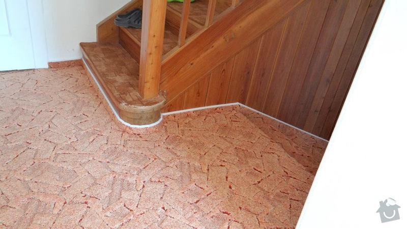 Pokládka koberce, obložení schodů.: 1