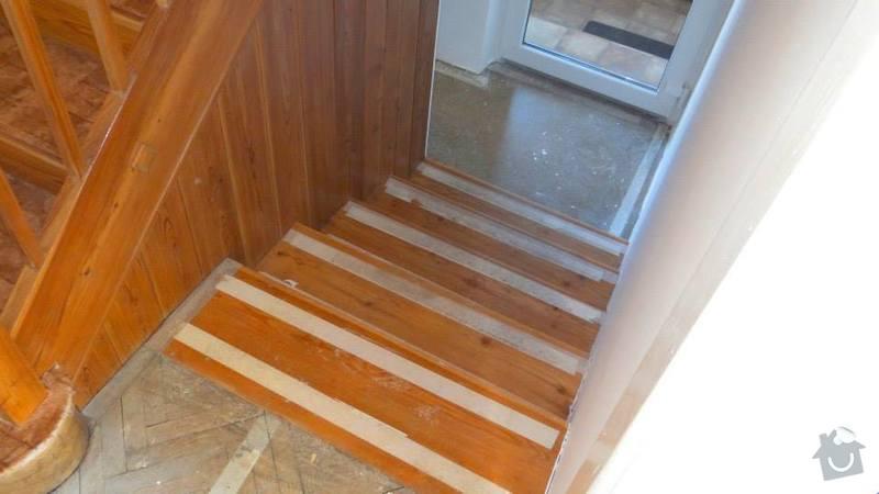 Pokládka koberce, obložení schodů.: 2