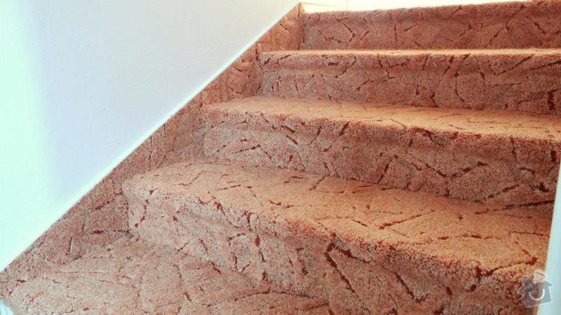 Pokládka koberce, obložení schodů.: 3
