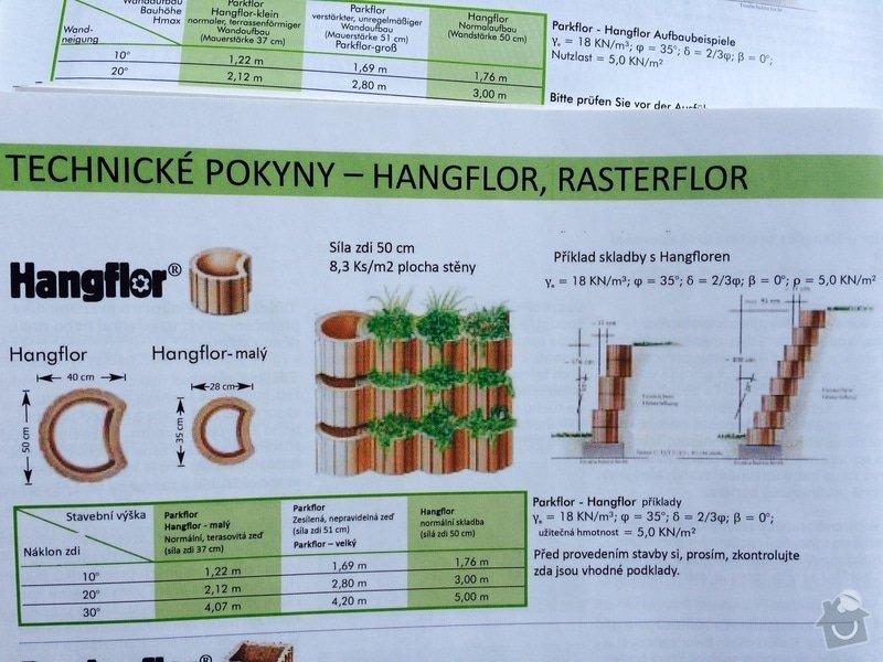 Opěrná zeď ,hangfloor, 100m2, : Hangflor-montaz