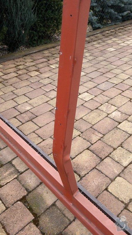 Oprava brány - ohnutý / zkřivený profil: 004
