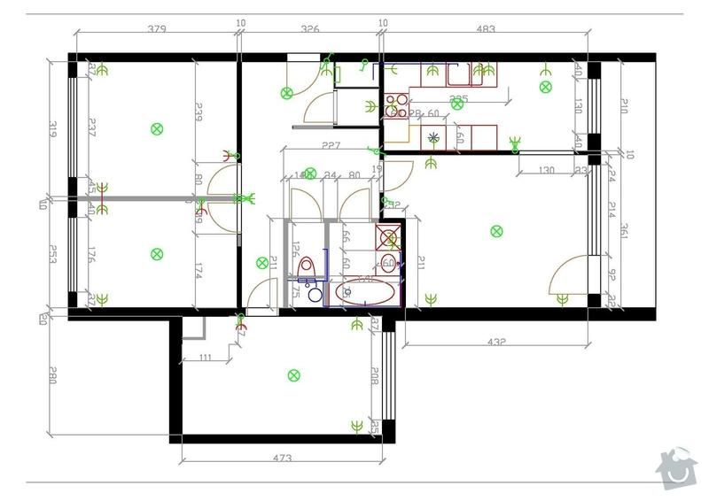 Rekonstruce bytu v panelovém domě: vykres