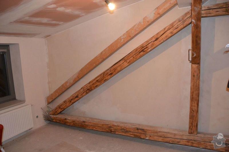 Dočištění,dobroušení a nátěr trámů v podkroví: DSC_0025