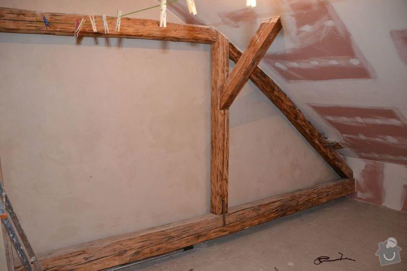 Dočištění,dobroušení a nátěr trámů v podkroví: DSC_0026
