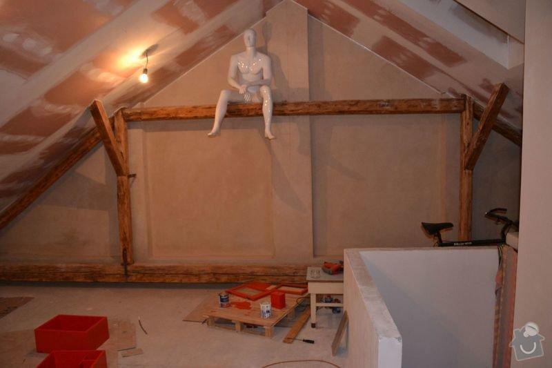 Dočištění,dobroušení a nátěr trámů v podkroví: DSC_0027