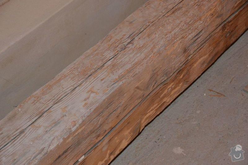 Dočištění,dobroušení a nátěr trámů v podkroví: DSC_0029