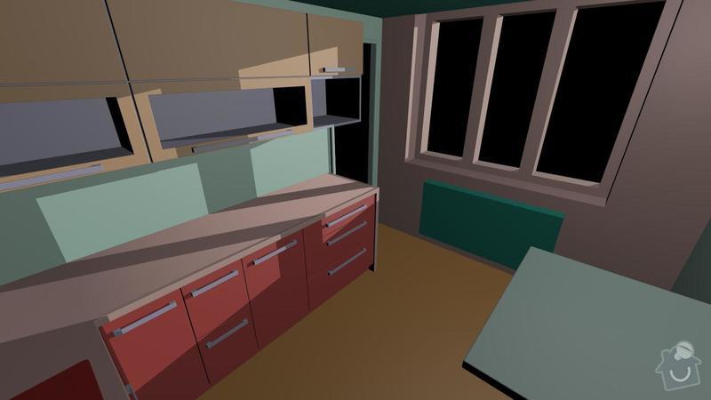 Výroba, montáž kuchyňské linky: kuchyn2