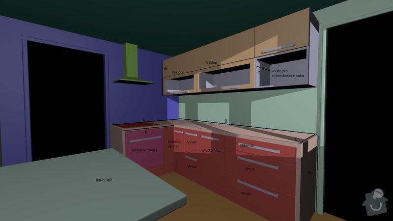 Výroba, montáž kuchyňské linky: kuchyn1
